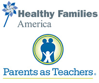 Healthy Families America and Parents as Teachers logos